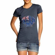 Twisted Envy Women's New Zealand Rugby Ball Flag Funny Cotton T-Shirt