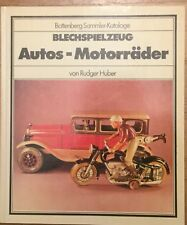 Battenberg Sammler Kataloge Blechspielzeug Autos- Motorräder Rudger Huber