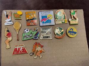 Job Lot 14x Very Rare Tennis Pin Badges Bundle Collection Bargain Sport