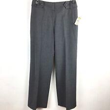 Talbots NWT Womens Petite 2P Gray Dress Pants Straight Leg Poly Wool Blend