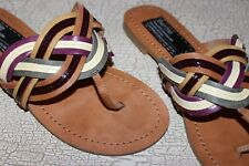 BERTIE Multicoloured Genuine Leather Ladies Flip Flops Sandals shoes size 4.5- 5