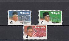 A130-Malasia-SG462-464 Estampillada sin montar 1991 ex primer ministro de Malasia