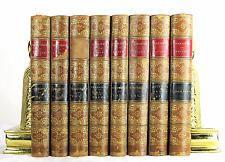 THE PICTORIAL EDITION OF THE WORKS OF SHAKESPERE 8 VOL ANTIQUE LEATHER BINDINGS