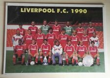 1990 LIVERPOOL ANFIELD AUTOGRAPH POSTER BY 16 PLAYERS ALL LEGENDS DALGLISH RUSH