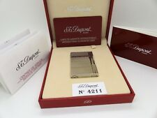 Genuine S.T.Dupont Platinum Plated Lighter S/N:1E2CD66 Ref:18341 Ex/Display
