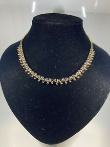 22k gold sapphire necklace, 16in
