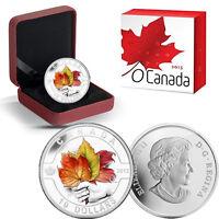 2013 O Canada 1/2 oz Silver $10 -  Maple Leaf Painted