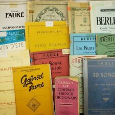 New ListingFrench Composers Piano Sheet Music & Song Books Mixed Antique Lot of 15