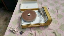 Case turntable Philips AG9148 tubes record player.