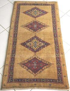 Perser Teppich Luribaft Orient Handgeknüpft Antik Gold Rug Carpet Tapis Alfombra
