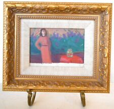 ARMENIAN ART,Soviet Impressionist Painting,GIRL/FISH HARUTYUNYAN,Armenia,1950s