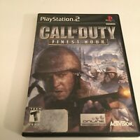 Call of Duty: Finest Hour (Sony PlayStation 2, 2004): COMPLETE
