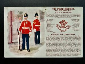 History & Tradition THE WELSH REGIMENT c1910 Postcard by Gale & Polden No.75b