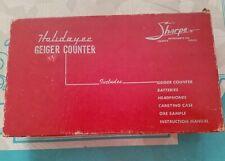 New listing Vintage Sharpe Holidayer Civil Defense Geiger Counter Radiation Detector Mcm Box