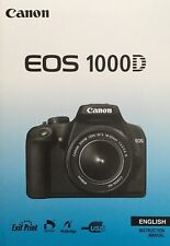 Canon EOS 1000D Manual - Printed & Professionally Bound Size A5 - NEW 196 Pages