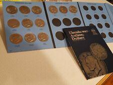 Nice Circ 1971-1978 Eisenhower $1 Dollar Complete 12 Coin Set + Whit Folder SBA