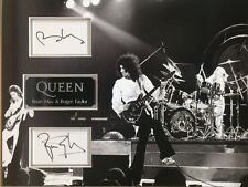 BRIAN MAY & ROGER TAYLOR Signed 18x13 Photo Display QUEEN COA