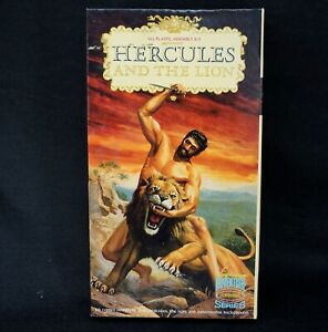 Vintage 1965 AURORA HERCULES AND THE LION MODEL KIT In Box #481-149