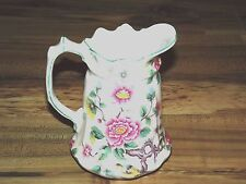 """OLD FOLEY CHINESE ROSE PITCHER-JAMES  KENT- STAFFORDSHIRE  ENGLAND 6 1/4"""""""