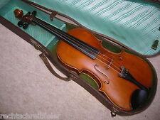 """Schöne alte Geige """"C A. Zeitler, Markneukirchen"""" Angeschäftet  old violin X"""
