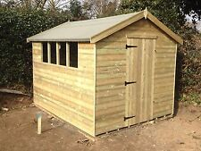 8 x 6 Apex shed / fully pressure treated FREE FITTING
