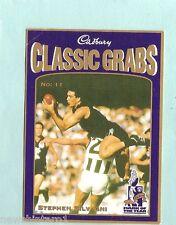 CADBURY AFL CARD #11  STEPHEN SILVAGNI, CARLTON BLUES