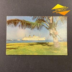 "VINTAGE 1950's MATSON LINE HONOLULU HAWAII SS ""LURLINE"" STEAMSHIP POST CARD"
