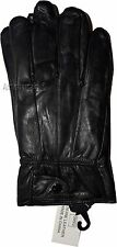Men's Size L Leather Gloves, Winter gloves, lined warm Black leather gloves BNWT