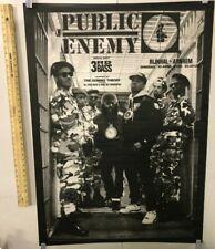 Vintage 1990 Amsterdam Concert Poster Public Enemy Bring Noise Hip Hop EastCoast