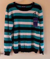 Ladies/Teenage:  STRIPED 'DABUTONG' JUMPER (Size L) [New with Tags]