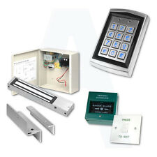 Door Access Control Proximity Kit W/ Fobs, Magnetic Lock, Keypad, Exit Button