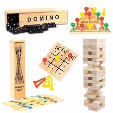 Vintage Wooden Games Set for Kids including Tic-Tac-Toe
