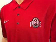 NEW Ohio State Buckeyes OSU Nike Polo Red Men's Size Large Team Issued NCAA