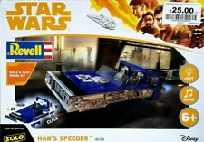 Star Wars Han Solo & Han's Speeder Model Kit NEW (Lights & Sound) Revell