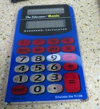 Calculator Keeper Tan Hard Case W/Educator Overhead Handheld Calculator Stokes
