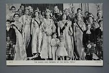 R&L Postcard: HM Queen Elizabeth and Members of the Royal Family, Group Portrait