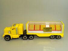 Vintage Bulgarian Schweppes Mac Delivery Truck Trailer Toy Tonka Pressed Steel