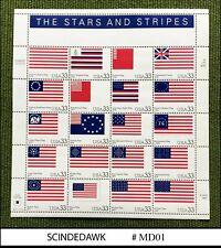 New listing United States Usa - 1999 The Stars And Strips / Flag - pane of 20V Min/Sht Mnh