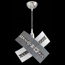 Lampadario Elegante In Cristallo e Plexiglass Sospensione Design Moderno 1 LUCE