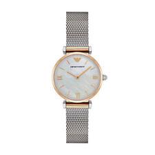Emporio Armani AR2068 Pearl/Silver Stainless Steel Analog Quartz Women's Watch