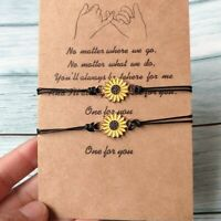 Best Friend Love Heart Friendship Promise Charm Card Wish You Me Bracelet Gifts