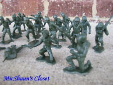 Marx WWII Combat US Marines Infantry 1/32 54MM Toy Soldiers Pacific Iwo Jima