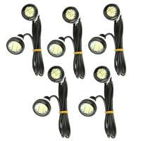 10x White LED Eagle Eye Light 12V 15W Daytime Running DRL Backup Car Rock Lamp