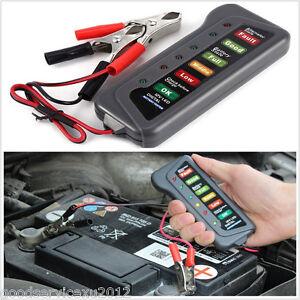12V Car Motorcycle Truck High Quality LED Digital Battery Alternator Tester Tool