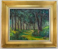 British Winston Churchill signed Impressionist oil painting on Canvas