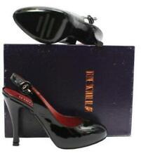 Le Silla Lesilla Black Patent Leather Slingback Pump Size 40