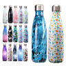 Premium Stainless Steel Double-Wall Vacuum Insulated Water Bottle Drinking 500ML