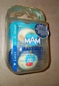 Vintage mam pacifier maxi ulti latex made in Austria (c)