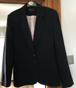 NEXT WOMAN FULLY LINED BLACK JACKET SIZE 12 IMMACULATE CONDITION