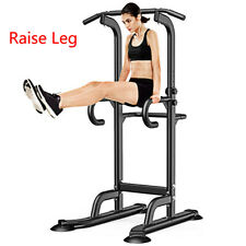 Power Tower Pull Up Bar Dip Station Indoor Home Gym Fitness Workout Equipment
